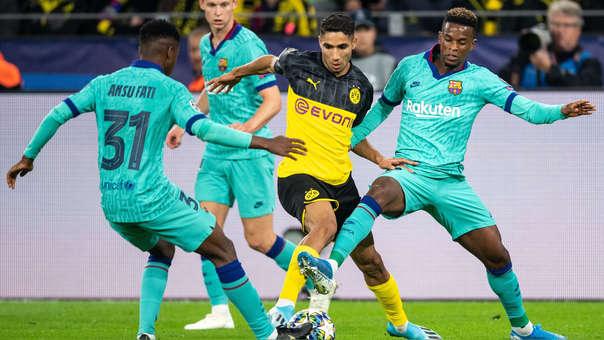 Barcelona y Borussia Dortmund se enfrentan por la Champions League
