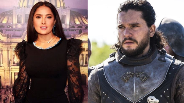 Salma Hayek y Kit Harington