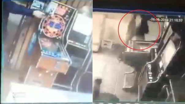 Capturas de cámaras de seguridad del momento del tiroteo