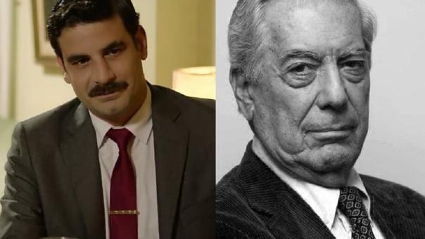 Sebastián Monteghirfo y Mario Vargas Llosa