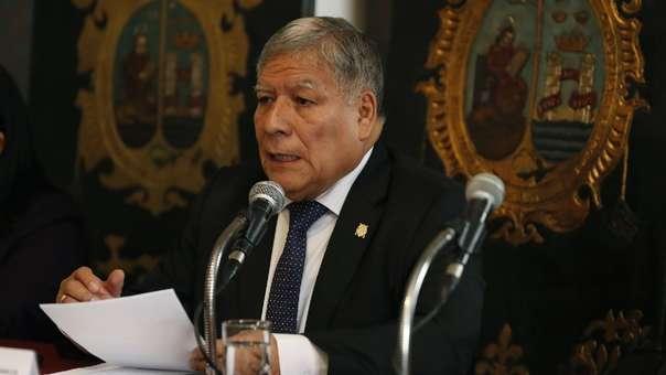 Orestes Cachay, rector de la Universidad San Marcos.