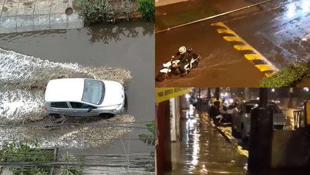 Aniegos tras lluvia en Lima