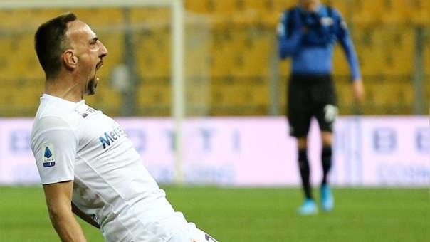 Frank Ribery marcó su primer gol en la Serie A con la Fiorentina