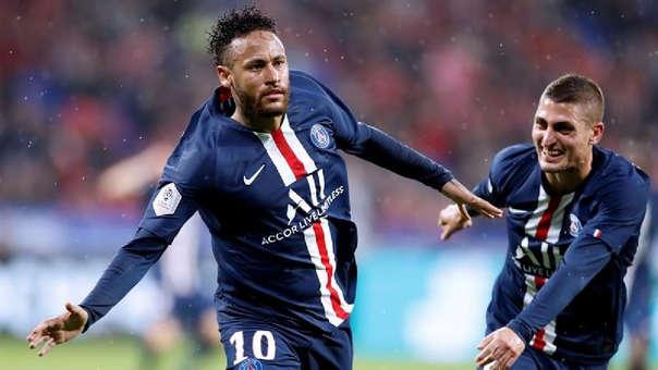 Neymar anotó el gol de la victoria para PSG ante Lyon por la Ligue 1