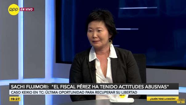 La hermana de Keiko Fujimori también opinó sobre el fiscal José domingo Pérez a quien calificó de