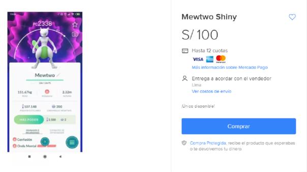 Mewtwo hhiny venta