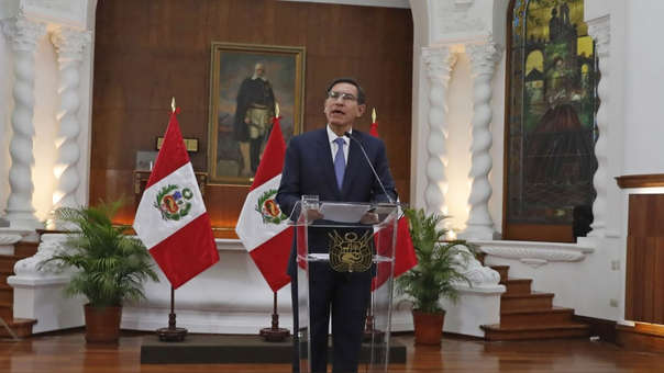 Martín Vizcarra anunció la cuestión de confianza esta tarde.