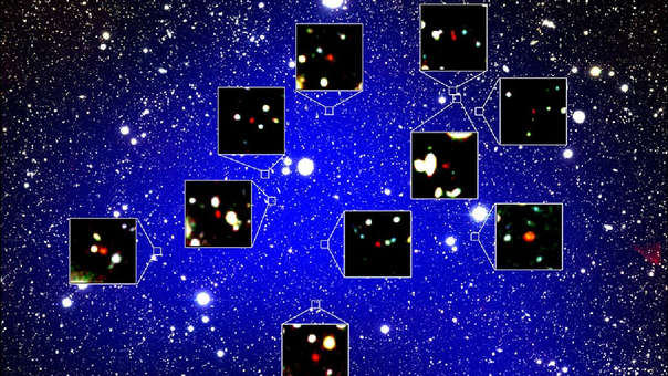 Protocúmulo de 12 galaxias