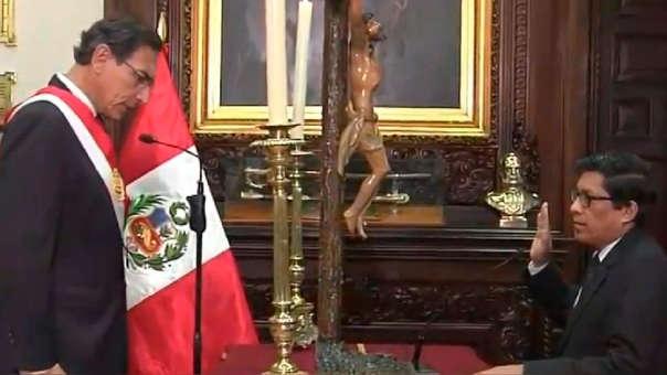 Así fue la juramentación de Vicente Zevallos como nuevo jefe del Gabinete Ministerial.
