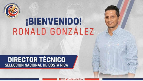 Ronald González es el nuevo técnico de Costa Rica