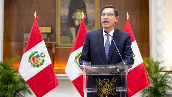 Martín Vizcarra, durante un mensaje a la nación.