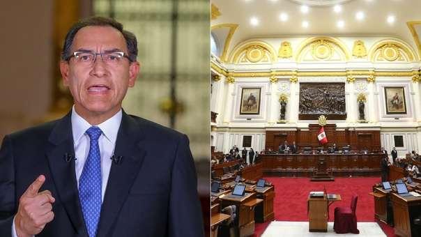 El presidente anunció la disolución del Congreso.