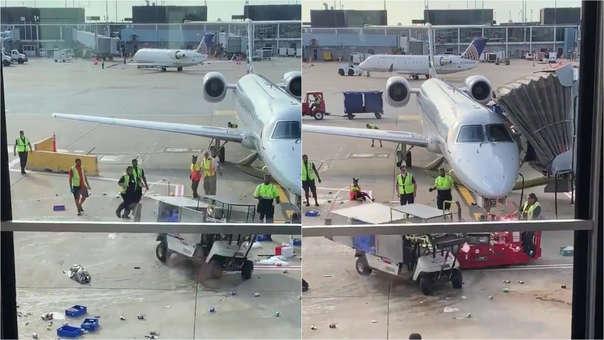 Imágenes del incidente en Chicago.