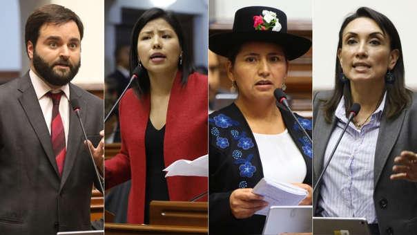 Alberto de Belaunde, Indira Huilca, Tania Pariona, Patricia Donayre, cuatro de los congresistas que se despidieron de su rol.
