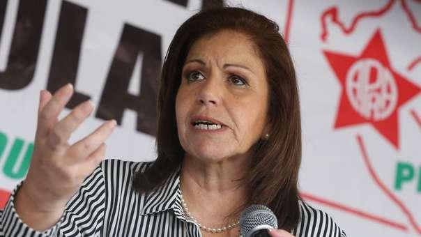 Lourdes Flores, excandidata presidencial.