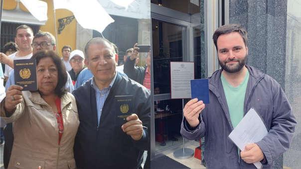 Maria Elena Foronda y Marco Arana, ambos de Frente Amplio, y Alberto de Belaunde, de Nuevo Perú, fueron algunos de los exparlamentarios que entregaron su pasaporte.