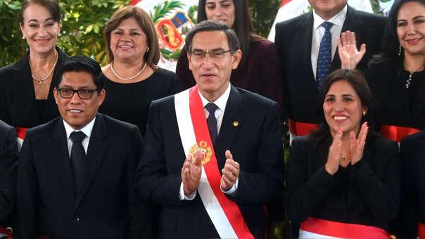 Martín Vizcarra juró a sus nuevos ministrso este jueves. Este viernes, en un evento en Ucayali, dio su primera declaración pública desde la disolución del Congreso.