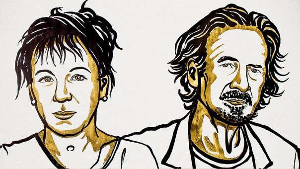 Los ganadores del Nobel de Literatura 2018 y 2019