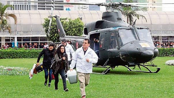 Mega operativo de transportó cuatro órganos.