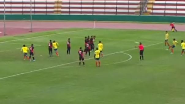 Brayan Vera anotó el 3-0 para Colombia sobre Perú en el estadio Miguel Grau del Callao