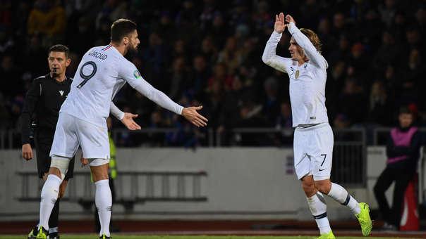 ¡Con gran definición! Olivier Giroud abrió el marcador a favor de Francia ante Islandia de penal