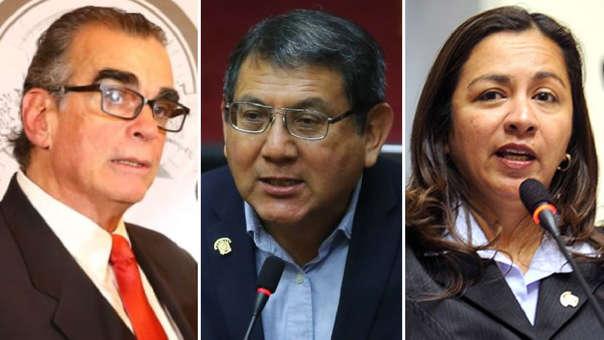 Pedro Olaechea, Ángel Neyra, Marisol Espinoza