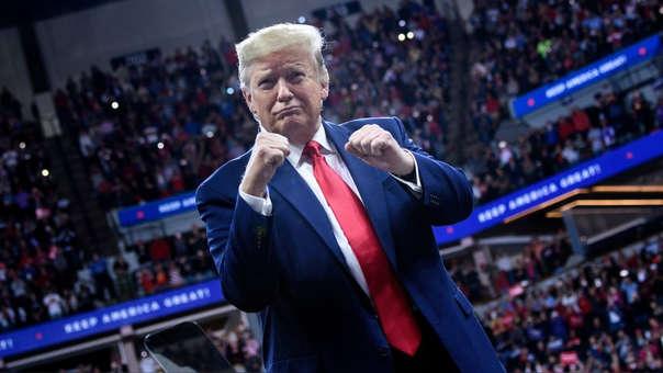 Donald Trump durante un mitin en Mineápolis, Minesota (jueves 10 de Octubre)