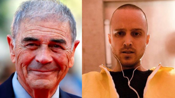 Aaron Paul y Robert Forster