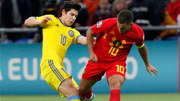 La genial asistencia de Eden Hazard para el 2-0 de Bélgica en las Eliminatorias Eurocopa 2020