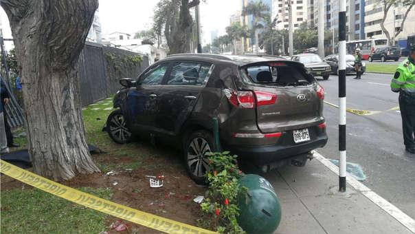 El informe elaborado por peritos de la Policía Nacional indica que Melisa González Gagliuffi conducía a más de 60 km/h.