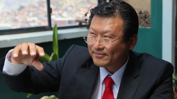 Chi Hyun Chung ,candidato a la Presidencia de Bolivia por el Partido Demócrata Cristiano (PDC)
