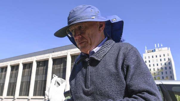 David Eastman arrives ante la sede de la Corte Suprema de Australia, en Canberra.
