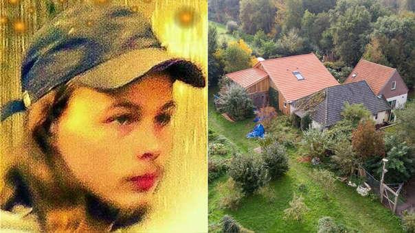 Izquierda: foto del joven que escapó y alerto a la Policía. Derecha: Fotografía aérea de la finca donde se halló a la familia.