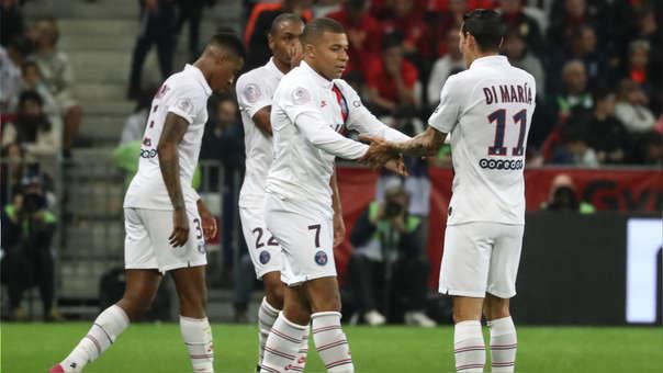 PSG ganó 4-1 a Niza por la fecha 10 de la Ligue 1 con doblete de Ángel Di María