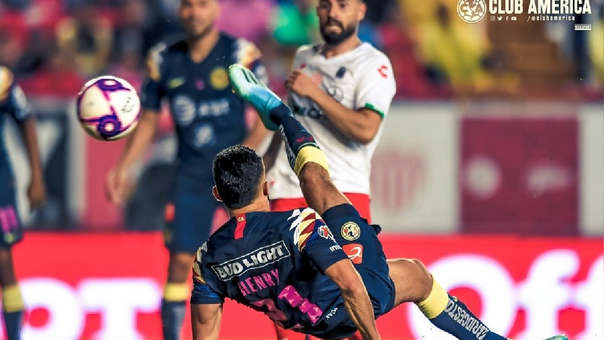América y Necaxa empataron 2 a 2 en la Liga MX