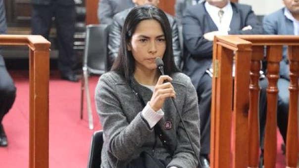 Audiencia de prisión preventiva contra Melisa González Gagliuffi.