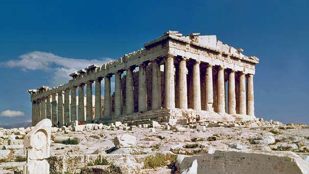 El Partenón, en la Acrópolis de Grecia