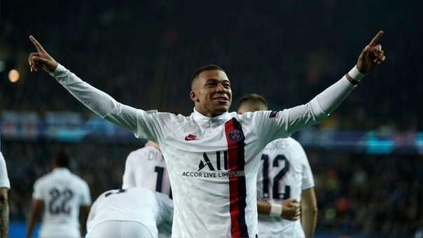 Así fue el Hat-trick de Kylian Mbappé en la victoria de PSG ante Brujas por la Champions League