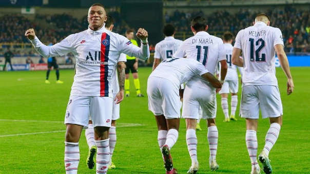 Con triplete de Kylian Mbappé PSG venció 5-0 a Brujas por el Grupo A de la Champions League