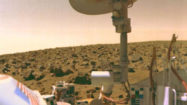La sonda Viking 2 llegó a Marte en 1976.