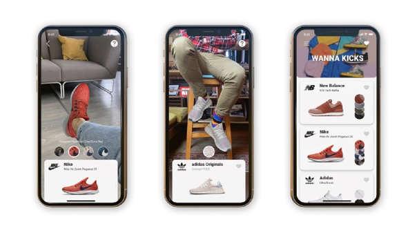 La firma bielorrusa Wannaby ha desarrollado un sistema de AR que te permite probar zapatillas con el teléfono