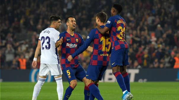 ¡De primera! Clement Lenglet anotó el 1-0 a favor de Barcelona ante Valladolid en el Camp Nou
