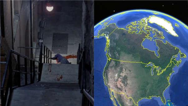 Google Earth Escaleras de El Exorcista