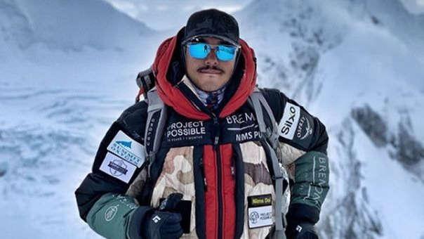 Nirmal Purja en una de sus expediciones