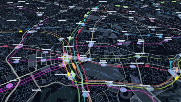 Este mapa 3D del metro de Tokio se actualiza en tiempo real