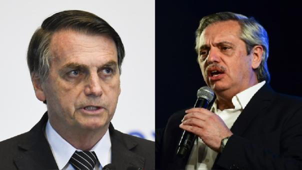 Jair Bolsonaro y Alberto Fernández