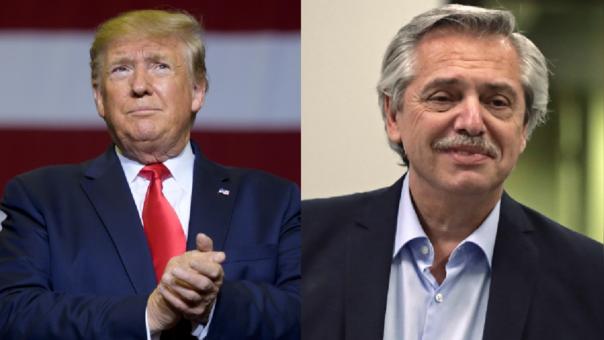 Donald Trump y Alberto Fernández
