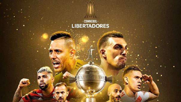 El afiche de la Conmebol anunciando la final de la Copa Libertadores