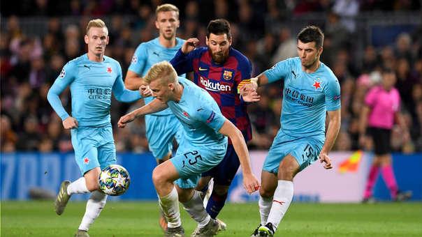 Barcelona empató sin goles ante Slavia Praga por la Champions League
