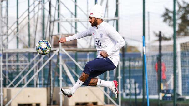 Neymar reapareció en el entrenamiento del PSG